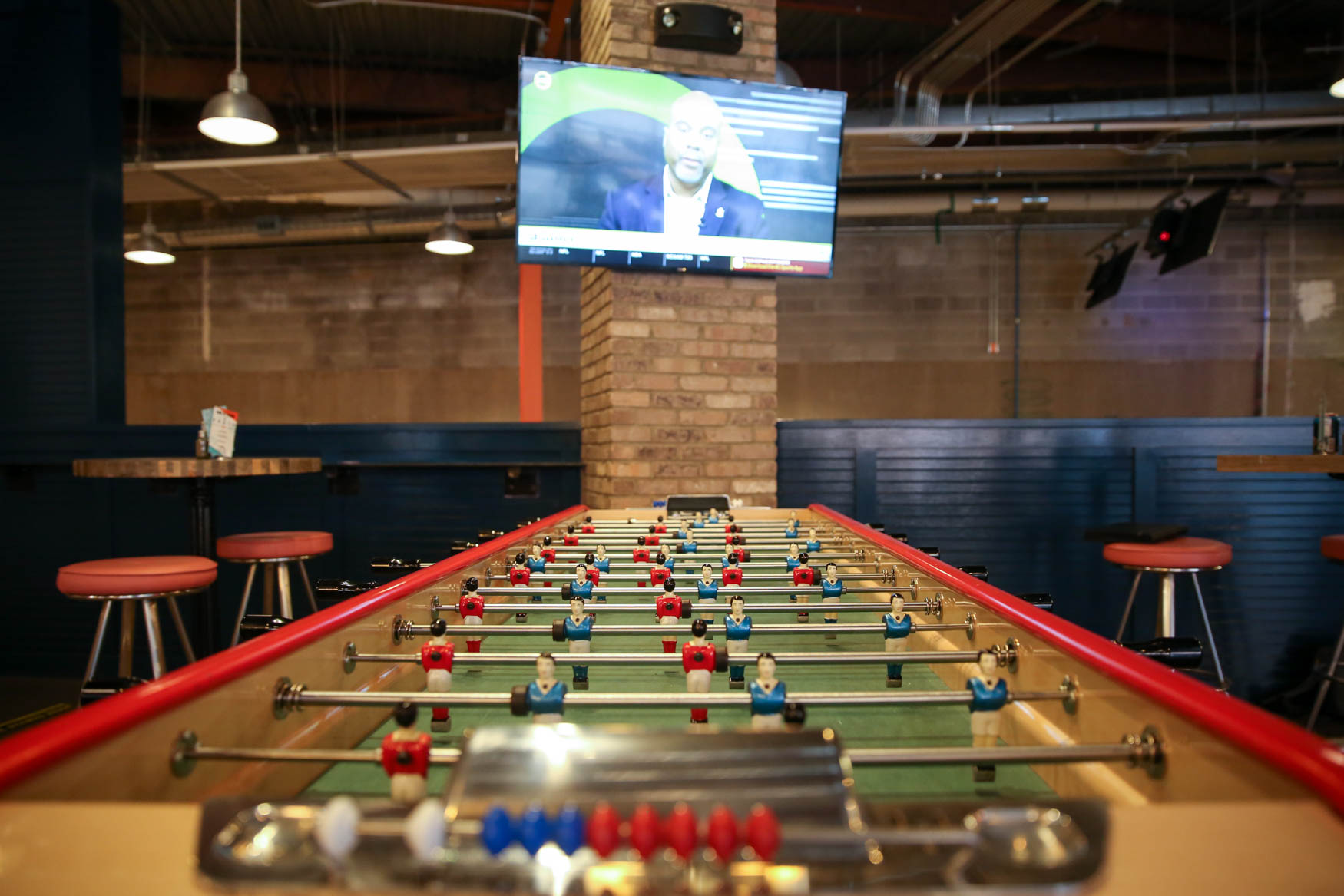 Everyone loves a good game night, but Punch Bowl Social takes it to a whole other level. The three-floor concept in the Ballston neighborhood of Arlington, offers karaoke, bowling, darts and a full arcade, in addition to an attached diner and{ } a quieter lounge area featuring a fireplace. The wide-spanning menu will keep everyone satiated and Punch Bowl Social, as the name implies, is great for groups - especially those which include friends who are willing to share a boozy punch.{ } Punch Bowl Social opens on Saturday. The opening party has a $20 cover charge, but it includes food and drink. (Amanda Andrade-Rhoades/DC Refined)