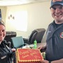 "Hamilton Township officer gives firefighter a ""Sorry I tased you!"" cake"
