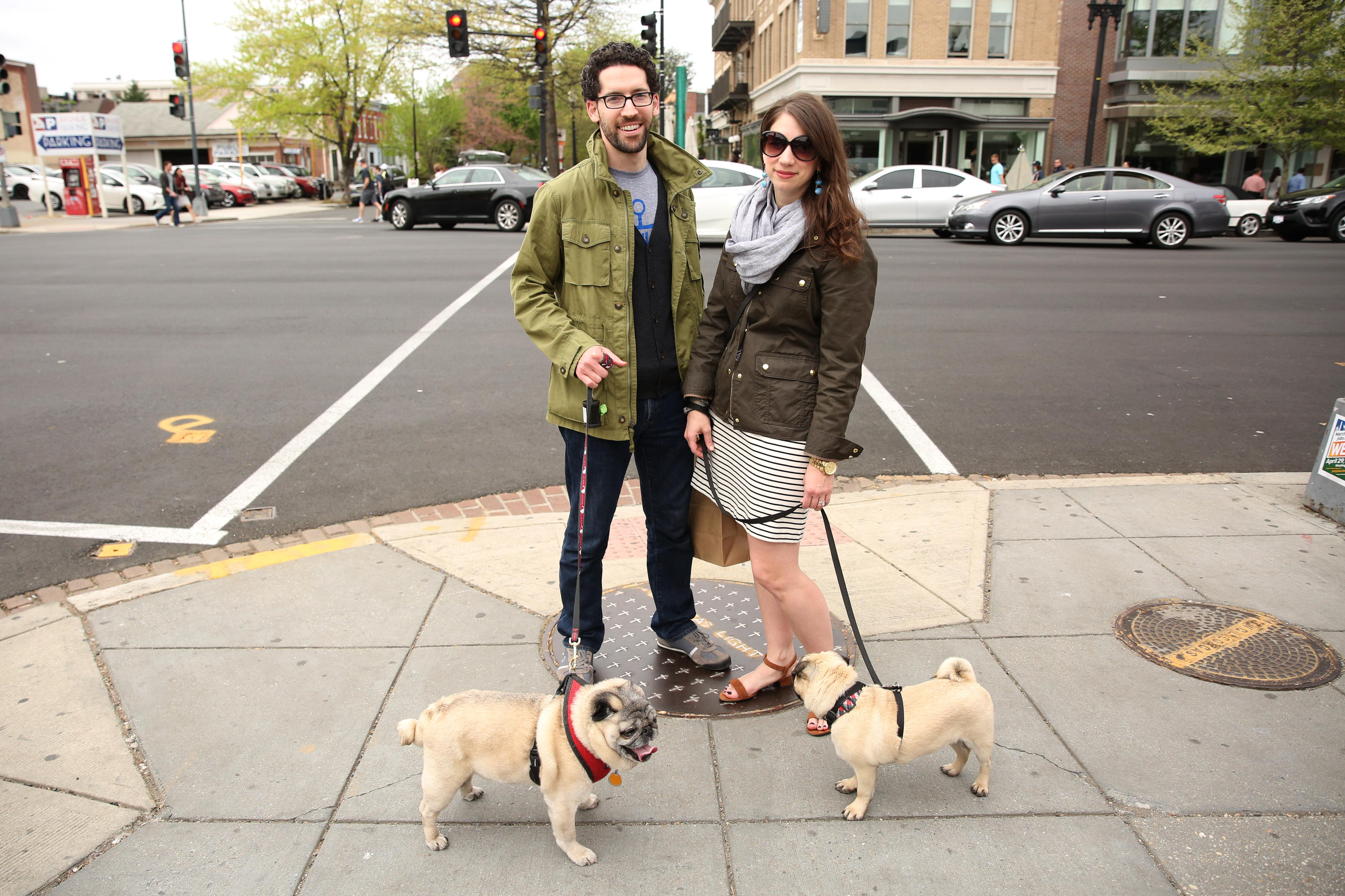 A matching spouse and adorable pugs are also great for completing any outfit. (Amanda Andrade-Rhoades/DC Refined)