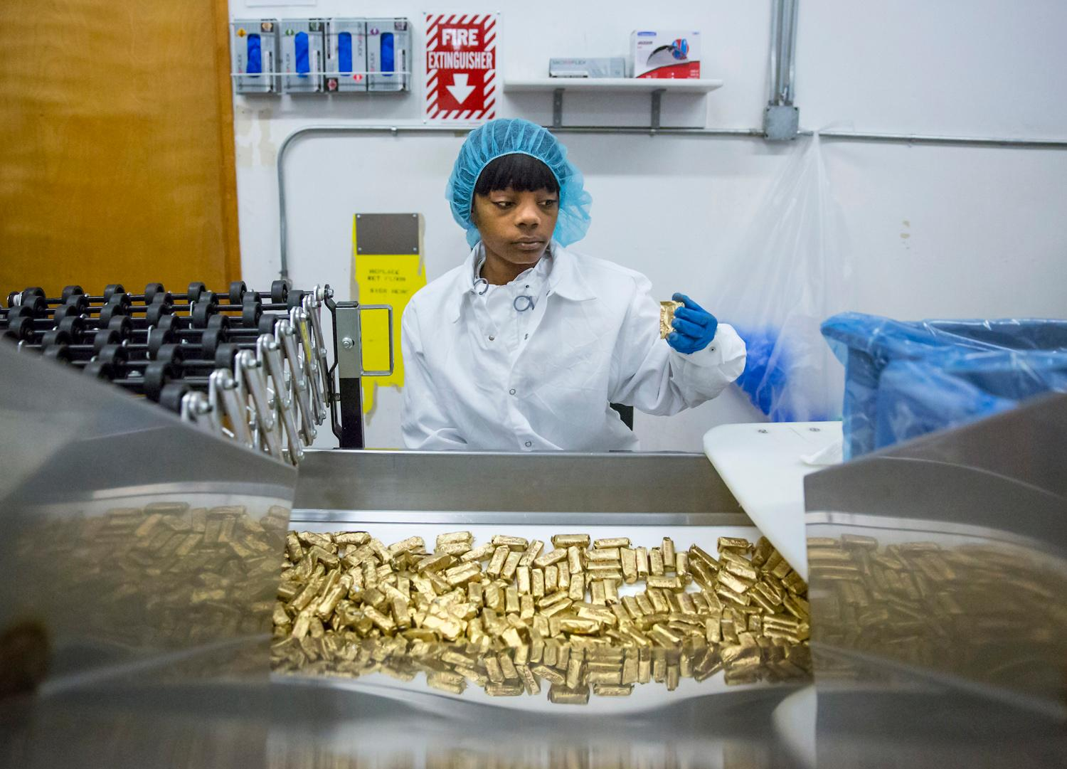 The signature gold foil of Almond Roca has been synonymous with rich decadent luxury worldwide, but did you know this quintessential candy is made right here in the Northwest. We took a tour of the Tacoma factory, where they're then shipped to 35 different countries! (Image: Sy Bean / Seattle Refined)
