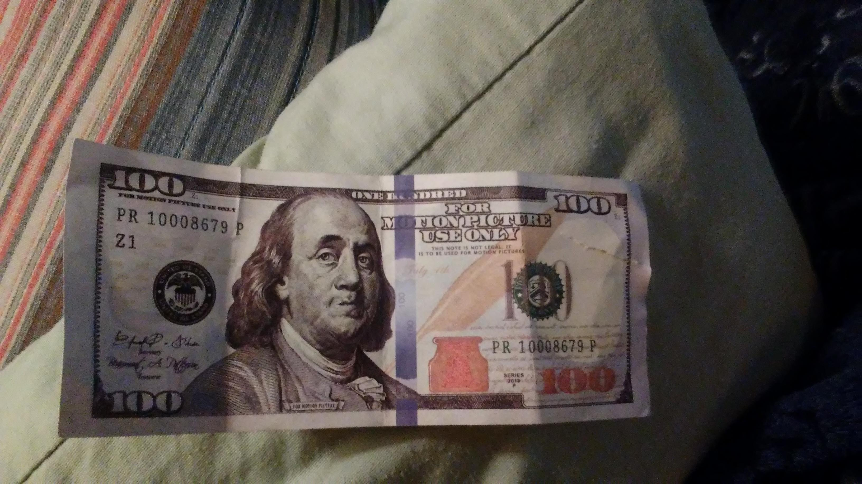 He learned moments later the $100 bill was bogus.{&amp;nbsp;}<p></p>
