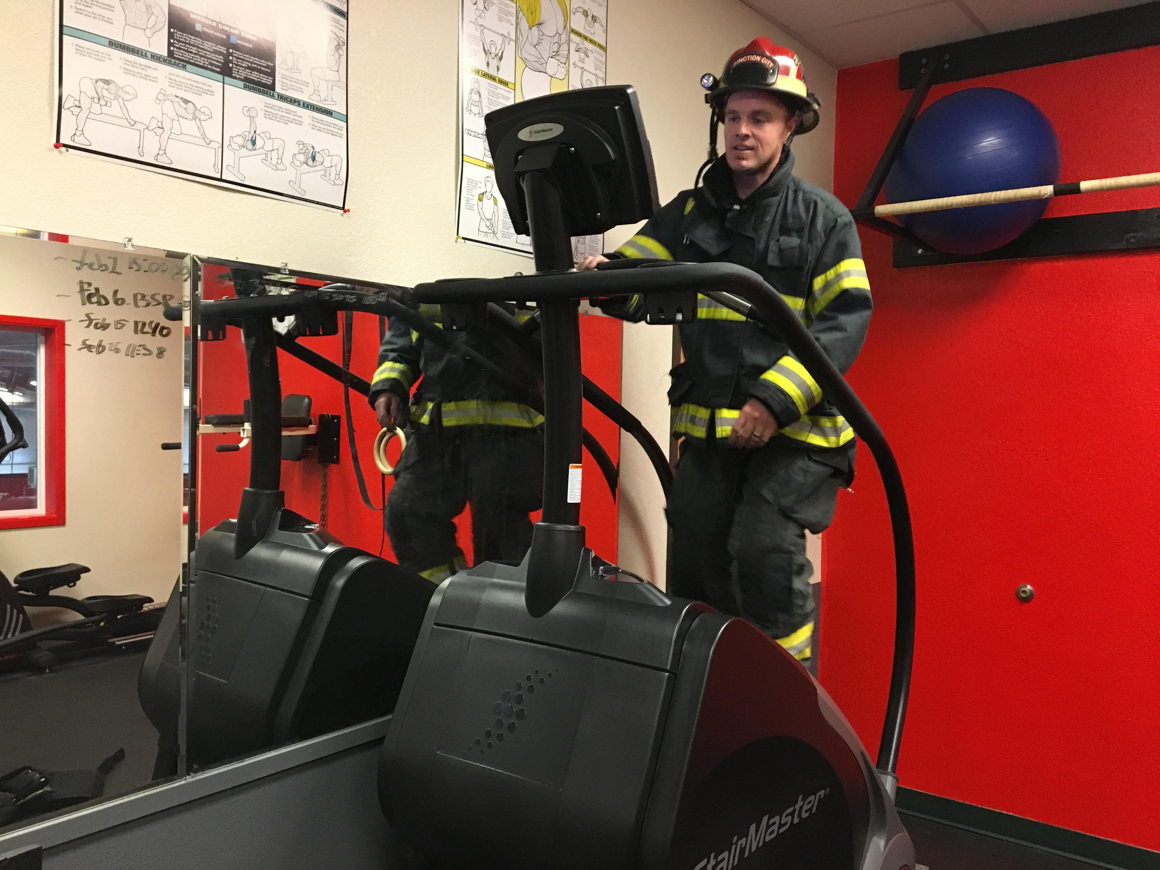 Three Junction City firefighters are training for the annual{ }Scott Firefighter Stair Climb{ }this weekend. It's a fundraiser for the Leukemia and Lymphoma Society. (SBG)