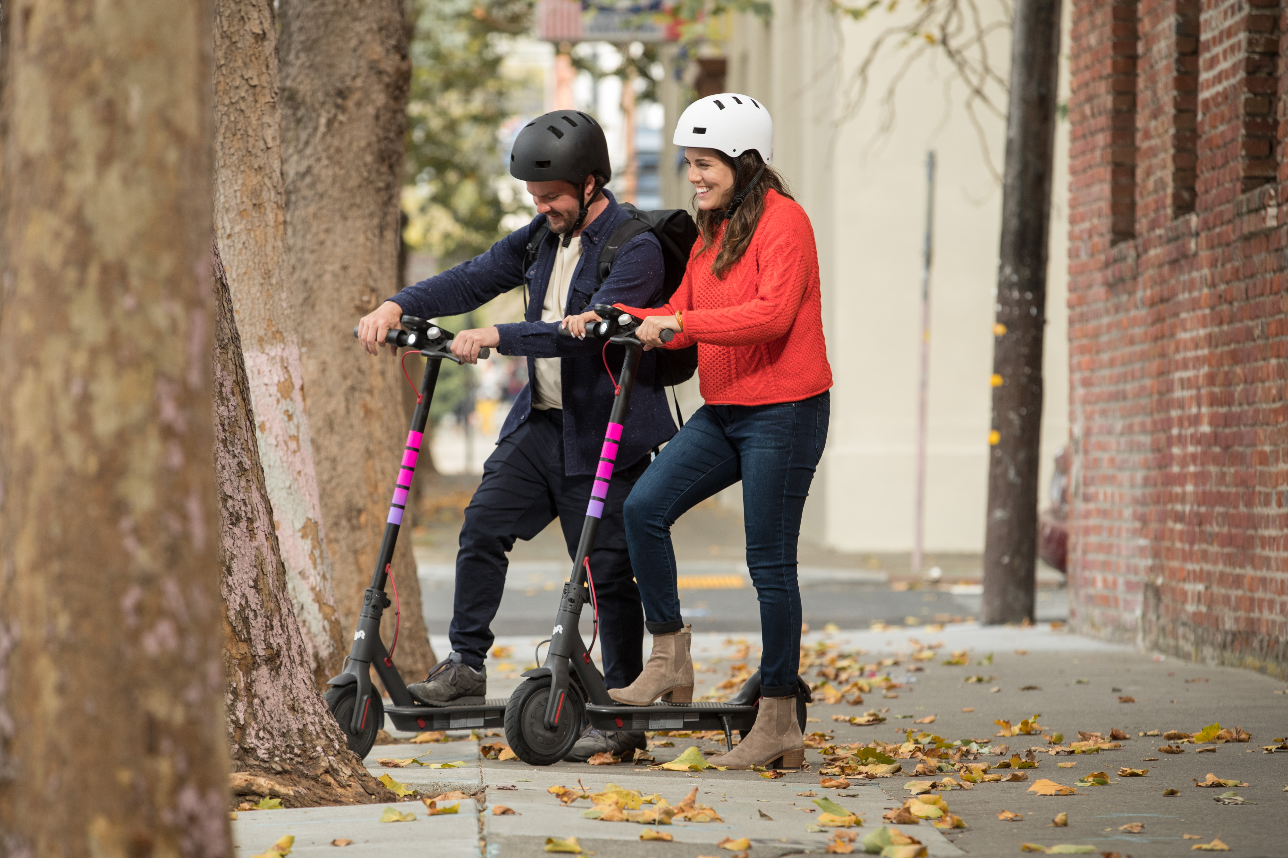 Lyft competitor Uber invested in scooter company Lime earlier this year, and Uber also owns dockless bike company Jump, which launched scooters in Santa Monica earlier this month. (Image: Courtesy Lyft)