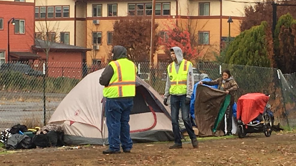 Crews clear illegal homeless camp from city land south of