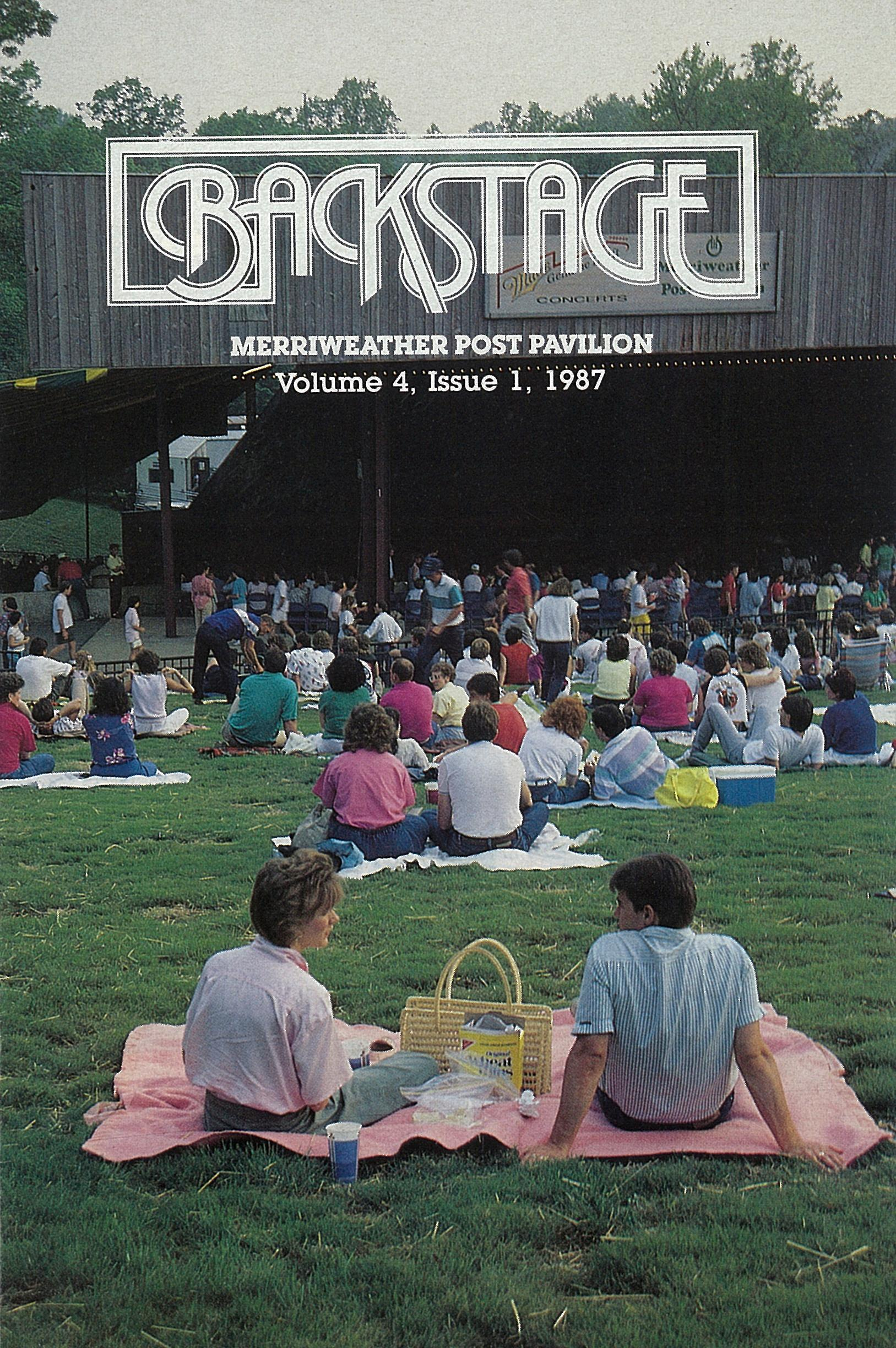 1987 edition of Backstage. (Courtesy of Merriwether Post Pavilion)