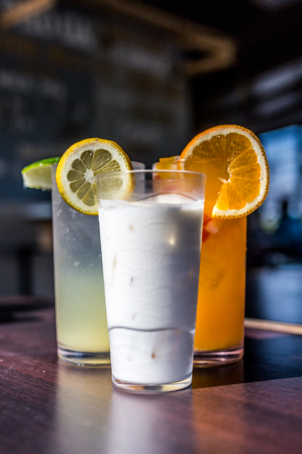 Iced yogurt, fresh lime soda, and fresh orange juice / Image: Catherine Viox{ }// Published: 9.28.19
