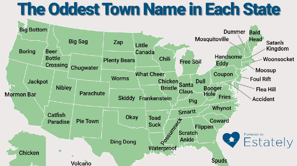 Do You Know The Weirdest Town Names In Virginia And Maryland DC - Maryland map funny
