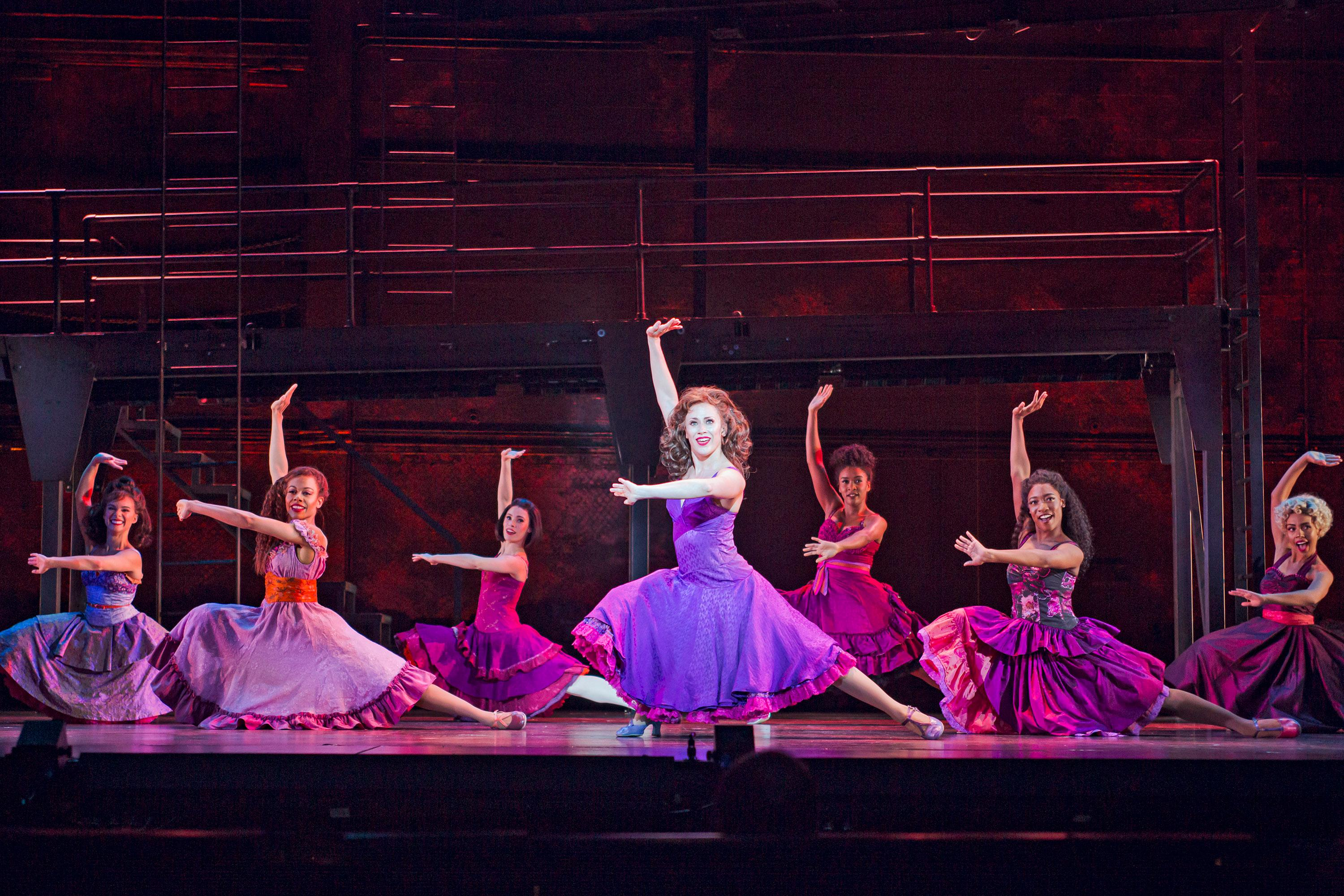 Danielle Gonzalez (center) as Anita and the Cast of West Side Story at The 5th Avenue Theatre (Photo Credit Tracy Martin)