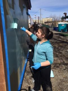 Students from Seattle's Hazel Wolf school bought, painted tiny home for Othello homeless encampment. (KOMO Photo)