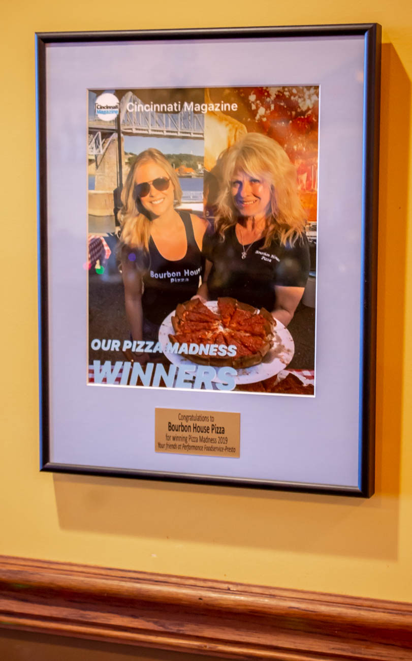 "Bourbon House Pizza was voted the best pizza place in Cincinnati Magazine's ""Pizza Madness"" Competition. The restaurant has been the winner of numerous other pizza-related awards over the years, as well. / Image: Katie Robinson, Cincinnati Refined // Published: 1.9.20"