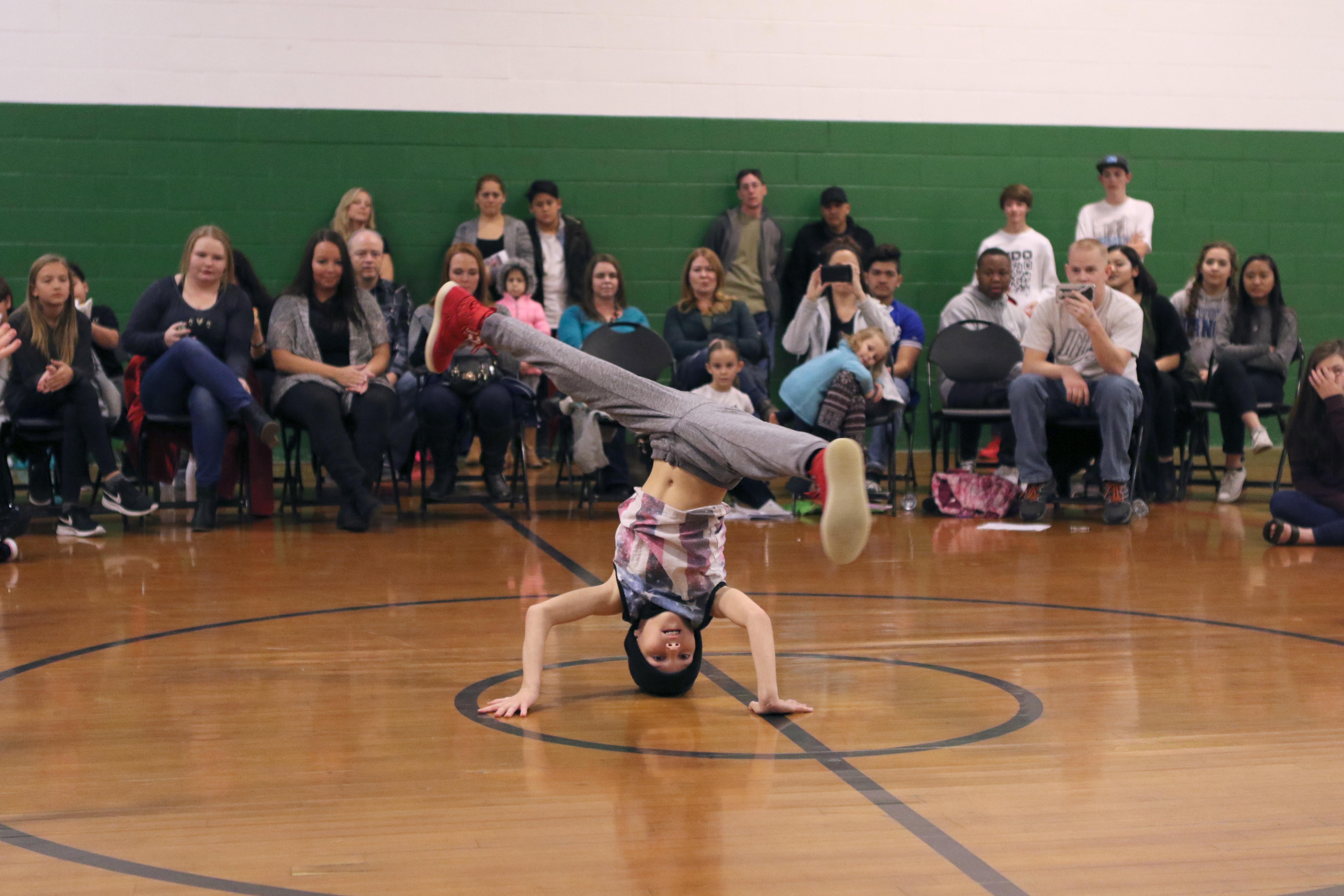 Last year's dance battle (Photo provided by Laurie Brady)