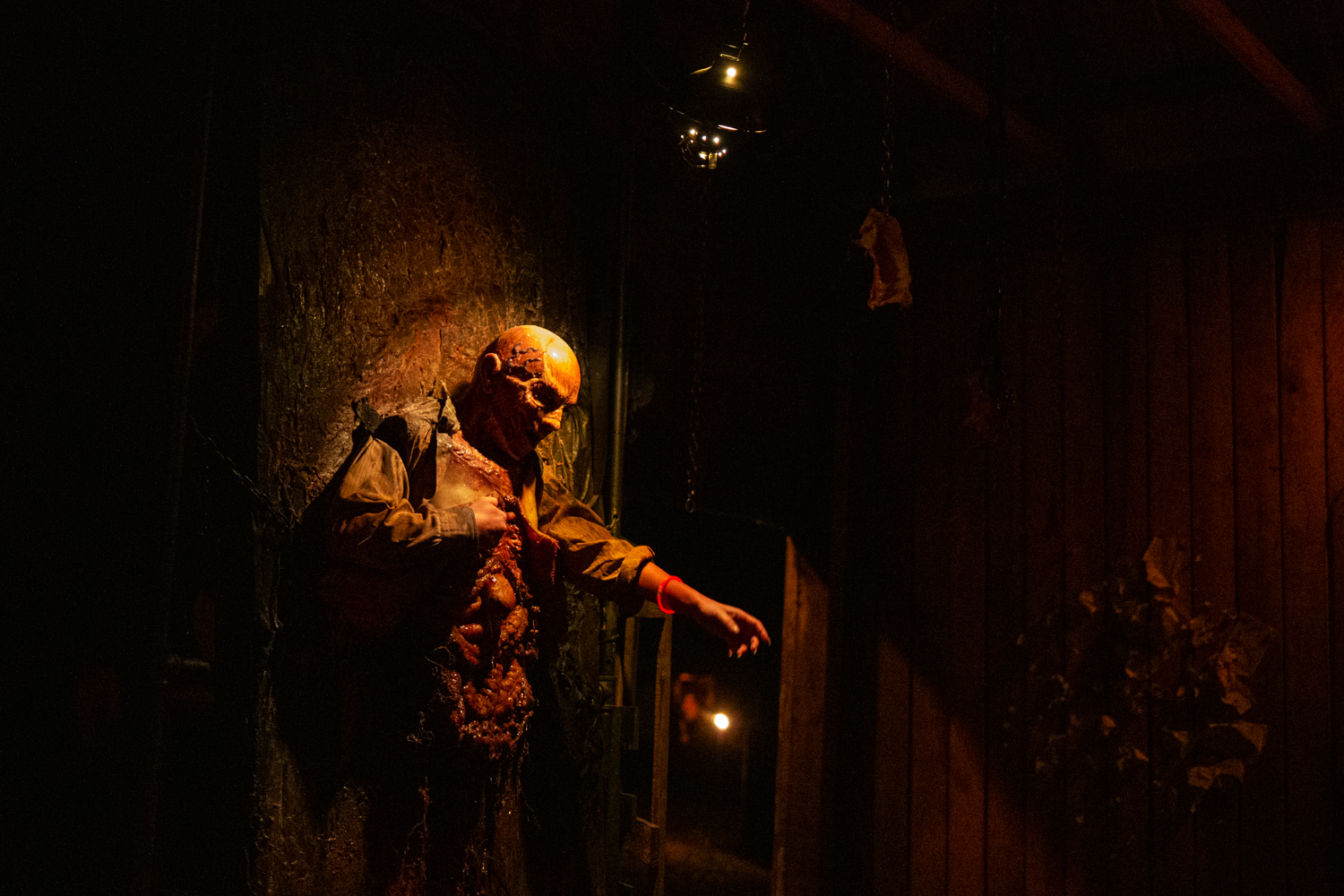 The haunted trail is the main attraction of Terror Town. Instead of having to wait in line for it, you enter a digital queue and are sent a text when it's your time to walk through it. / Image: Catherine Viox // Published: 10.20.19