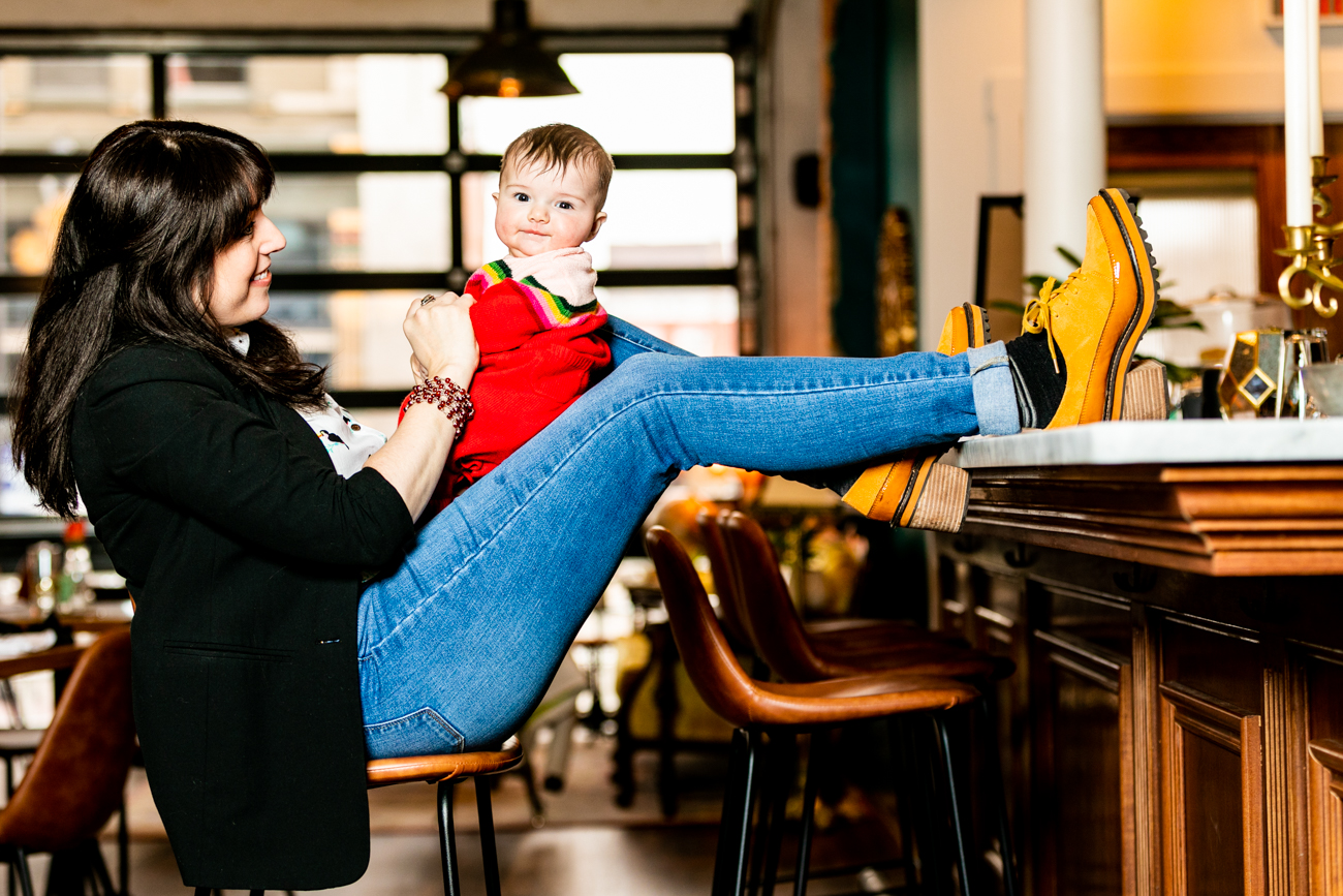 The Baker's Table co-owner Wendy Braun with her daughter, Willow{ }/ Image: Amy Elisabeth Spasoff // Published: 3.14.19