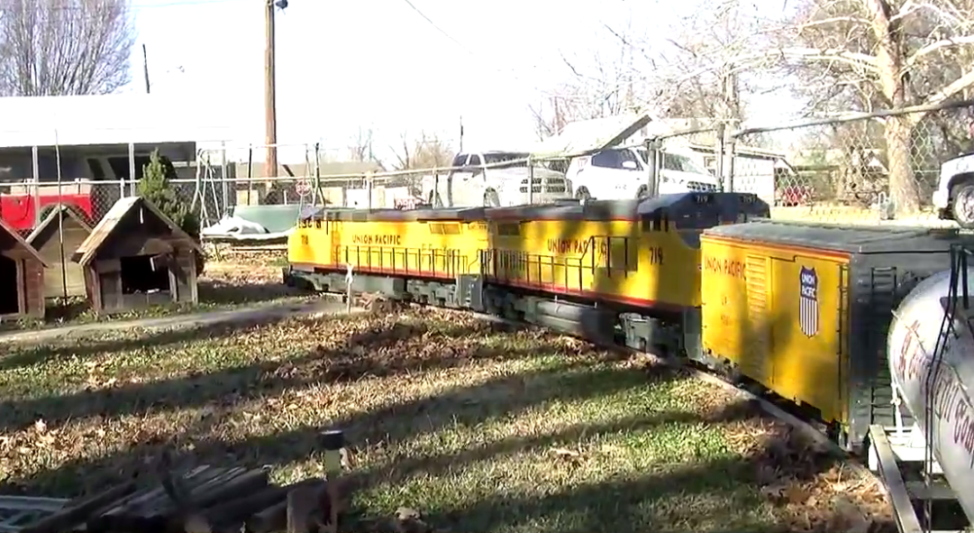 <p>While he plans to expand his track about 20 minutes away in Sperry, Tom Buttler's locomotive collection continues to grow. (KTUL)</p>