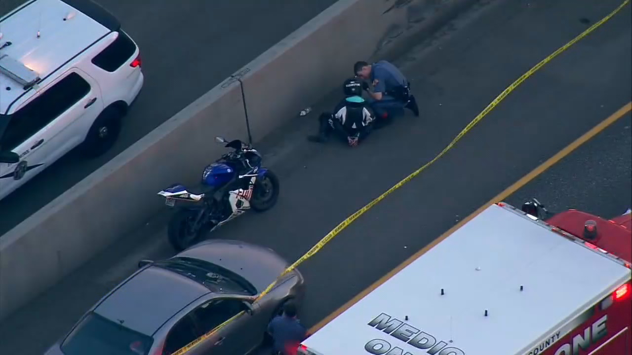 A man was killed in a road-rage incident Thursday on Interstate 5 in Milton. The woman motorcycle rider who fired the fatal shot was detained but later arrested. (KOMO file photo)