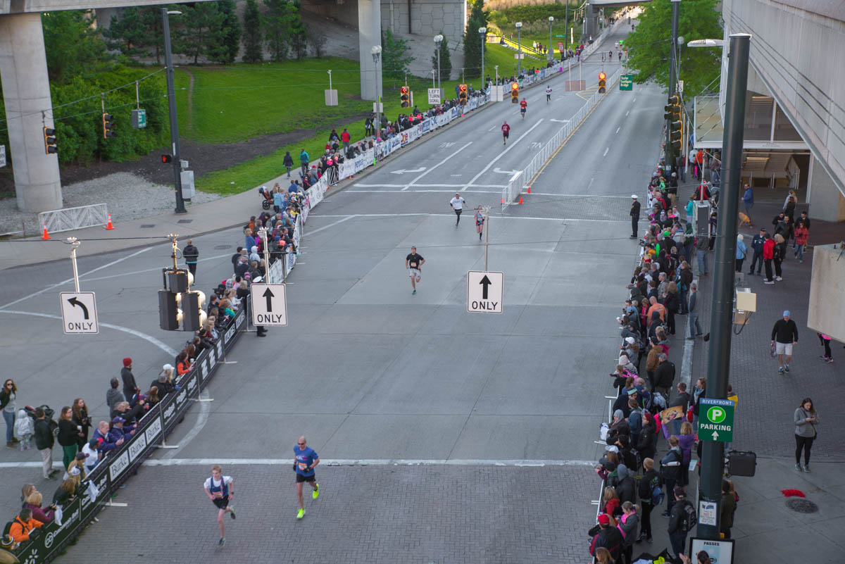 "The 19th Flying Pig full and half marathons were held on Sunday, May 7. Runners began at Paul Brown Stadium and snaked their way through NKY and Cincinnati before finally ending at the ""Finish Swine"" located on Pete Rose Way near US Bank Arena. / Image: Sherry Lachelle Photography // Published: 5.8.17"