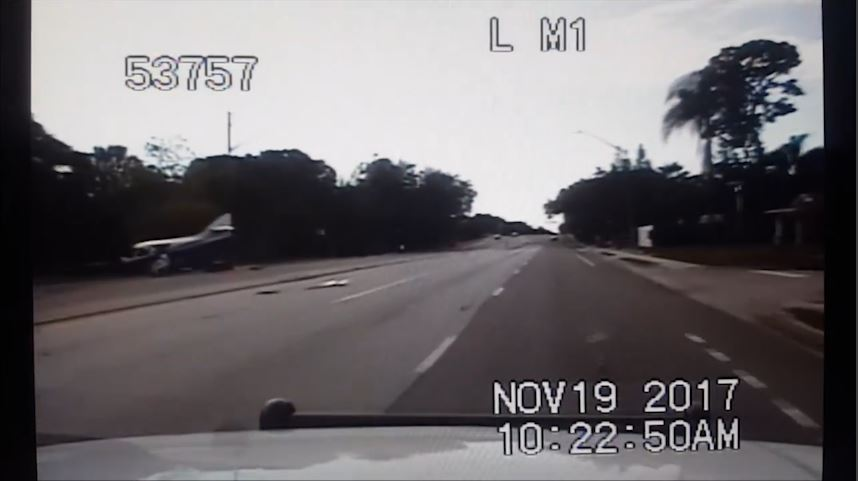 A plane crash is caught on camera in Pinellas County. (Pinellas County Sheriff's Office)