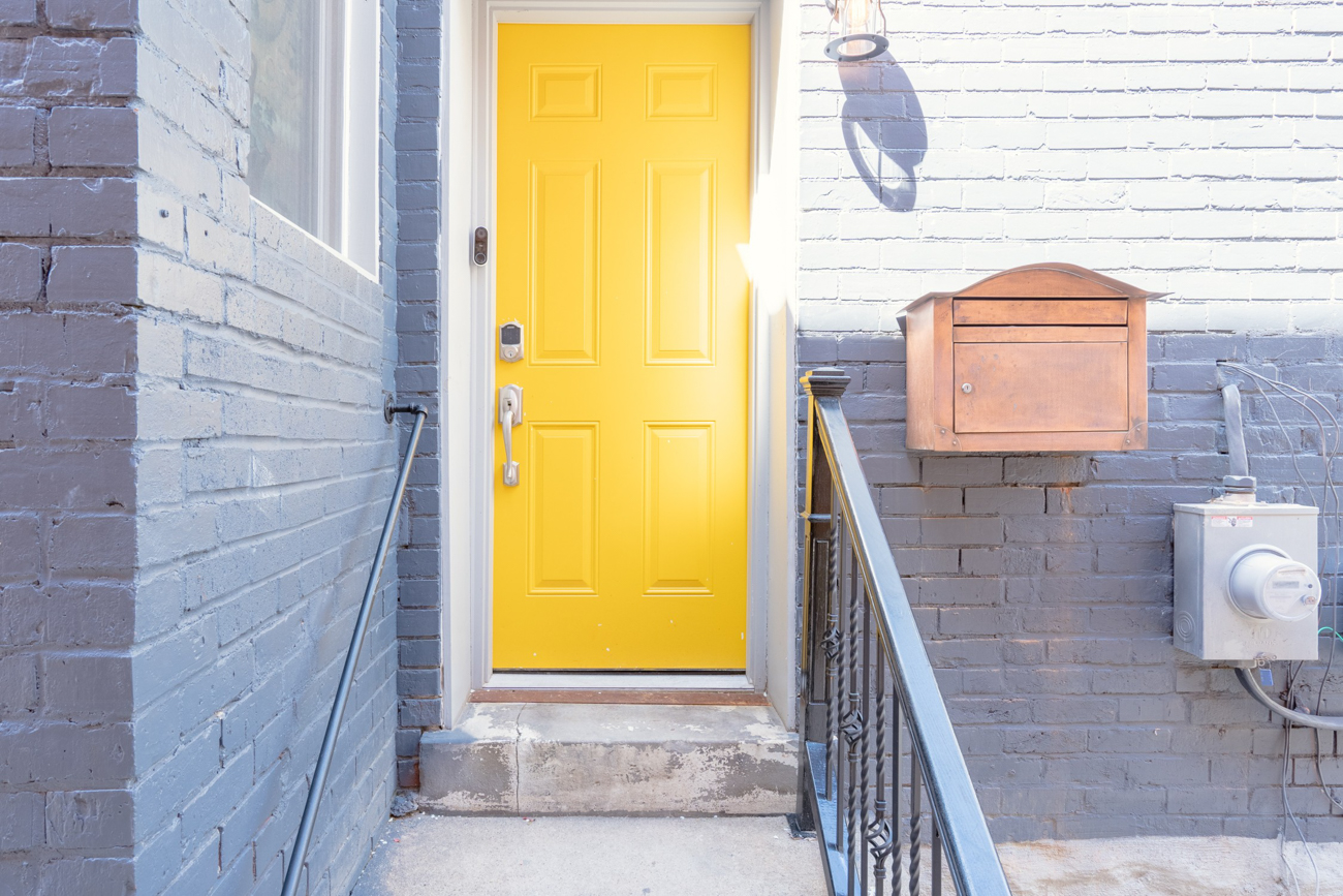 You can't miss the entry. It's bright yellow. / Image courtesy of Tom Sinclair // Published: 1.16.20