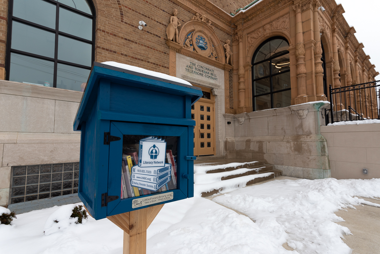 The Madcap Education Center also has a Little Free Library. / Image: Phil Armstrong, Cincinnati Refined // Published: 1.26.19