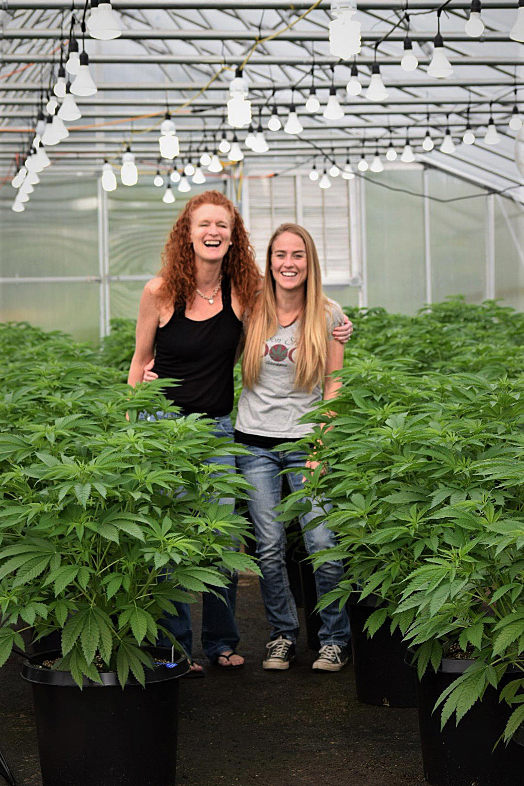 Valerie Montague, left, and Kristine Miller own Moon Shine Gardens in Josephine County. <br><p>Photo Courtesy of Moon Shine Gardens</p>