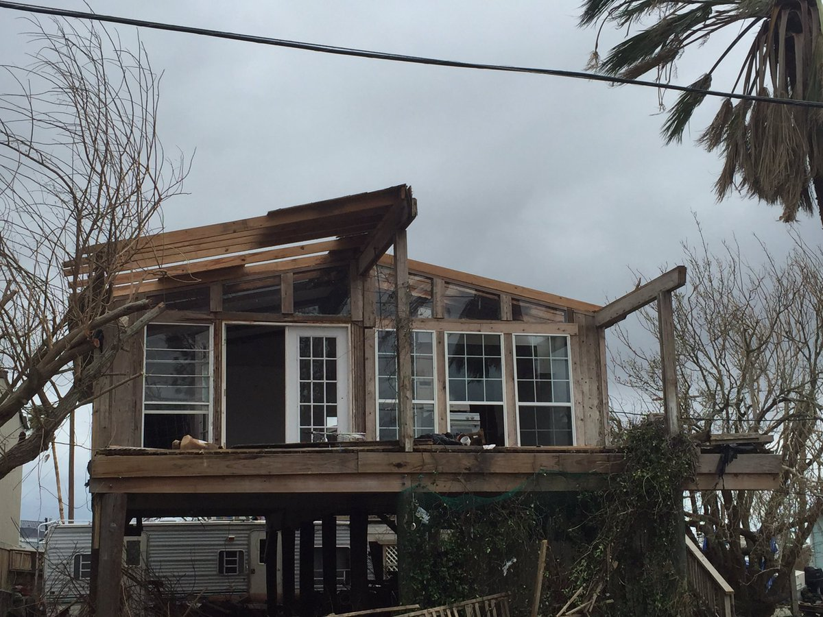 Damage that was found in Port Aransas, Texas after Hurricane Harvey. (Jordann Lucero / KOKH)
