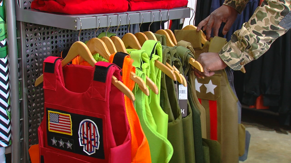 Scary,cool? Fake bulletproof vests worn as fashion statement