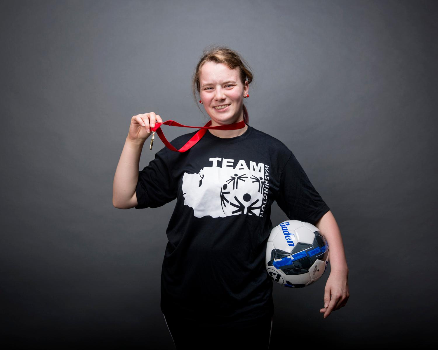 Introducing Laura Gorgen! Laura will be competing in soccer. The Special Olympics USA will take place in Seattle from July 1-6, with a grand opening ceremony and Parade of Athletes and the lighting of the Special Olympics Flame of Hope. (Sy Bean / Seattle Refined)