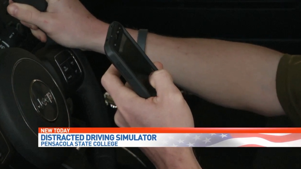 Distracted driving simulator comes to Pensacola State College | WEAR