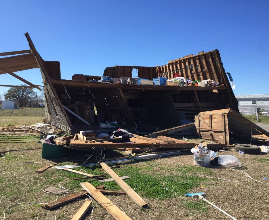 Damage in the Loris area of Horry County that was caused by a tornado. (National Weather Service)