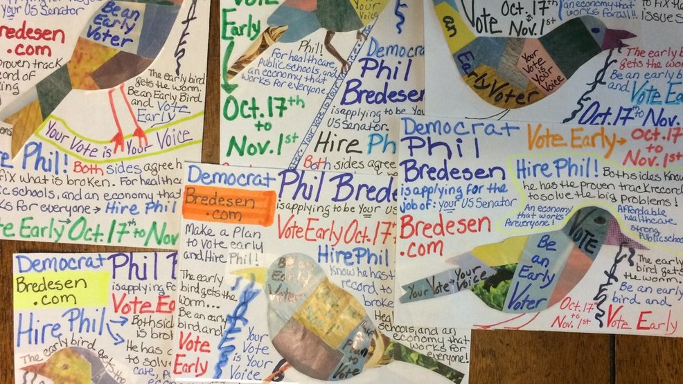 people across the country write postcards to local voters ahead of