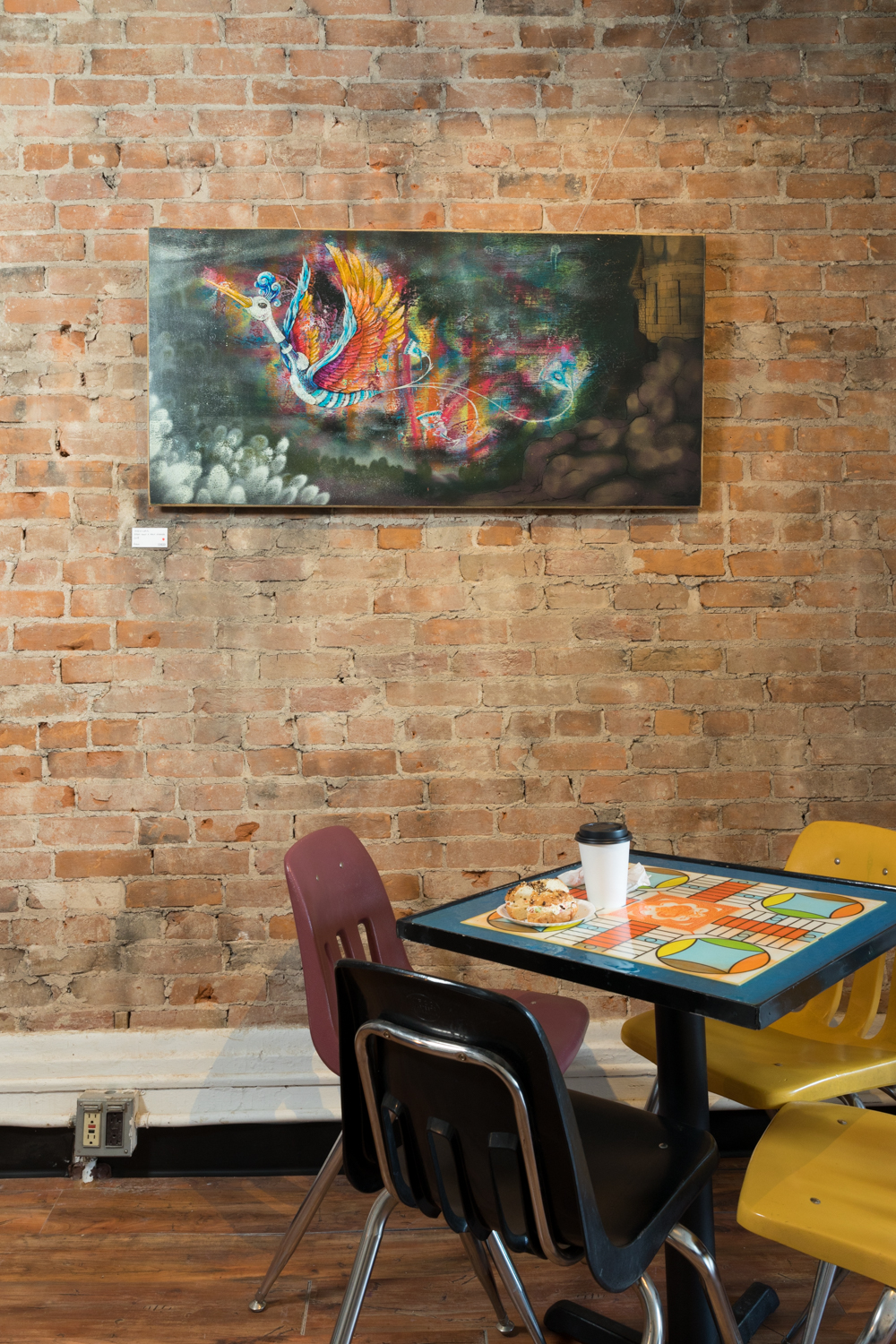 The Findlay Market breakfast and brunch spot is very casual and features stacks of games for customers to enjoy. The tops of the tables are made to look like board games as well. ADDRESS: 107 W Elder Street (45202) / Image: Marlene Rounds // Published: 2.21.19