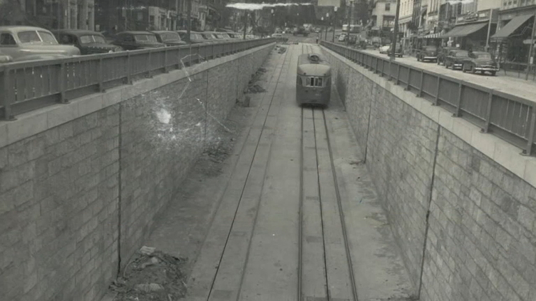 In 1949, Dupont Underground was opened as a trolley station. However, it shut down just 13 years later when the city stopped running its trolley system. It was reopened as a food court in the 1990s, an idea which was quickly abandoned. (Image via ABC7)