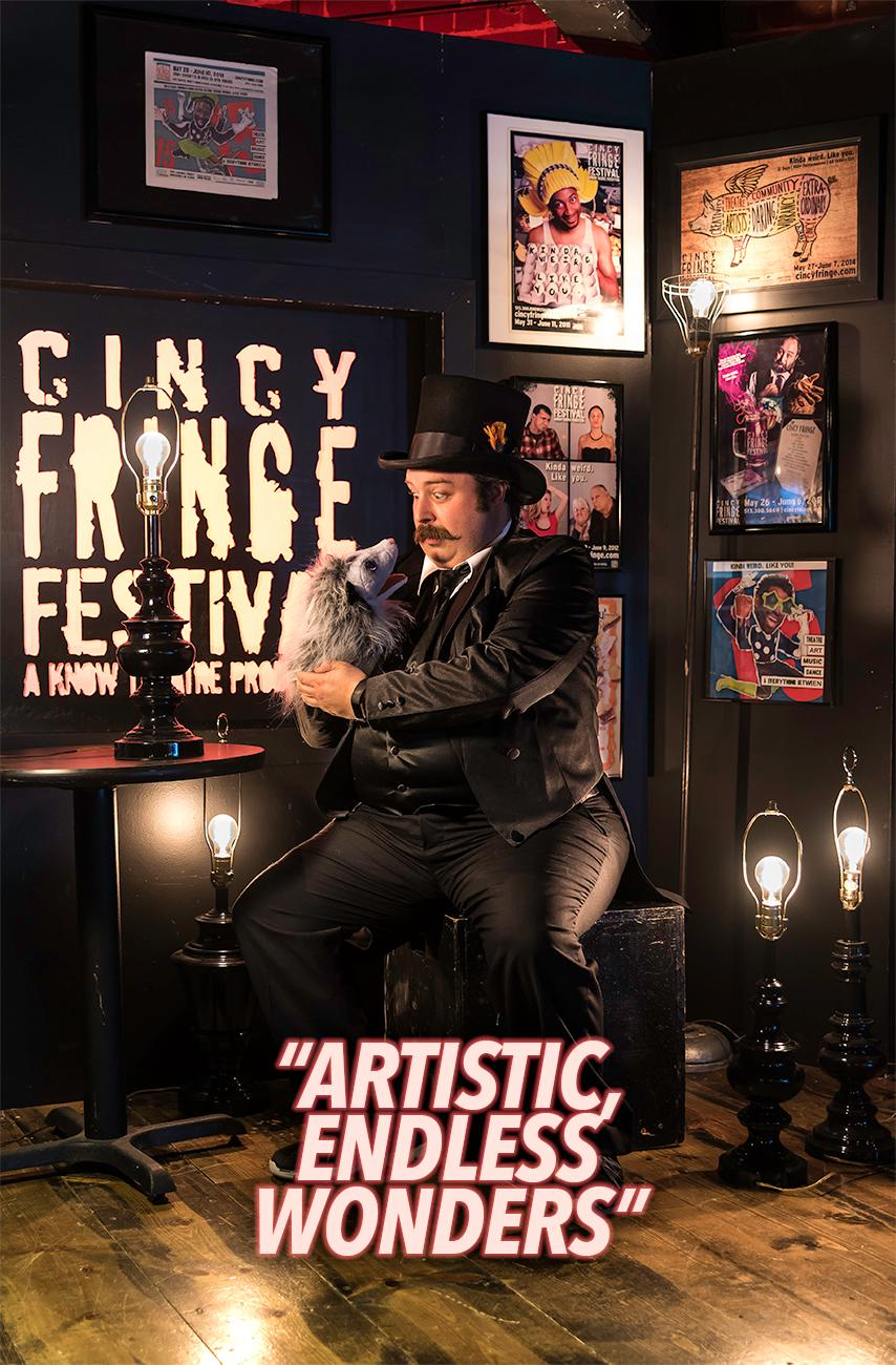 Sean Mette, artist / Cincy Fringe Fest runs May 29 thru June 10 at the Know Theatre in OTR. For more information, visit CincyFringe.com. / Image: Phil Armstrong, Cincinnati Refined // Published: 5.28.18