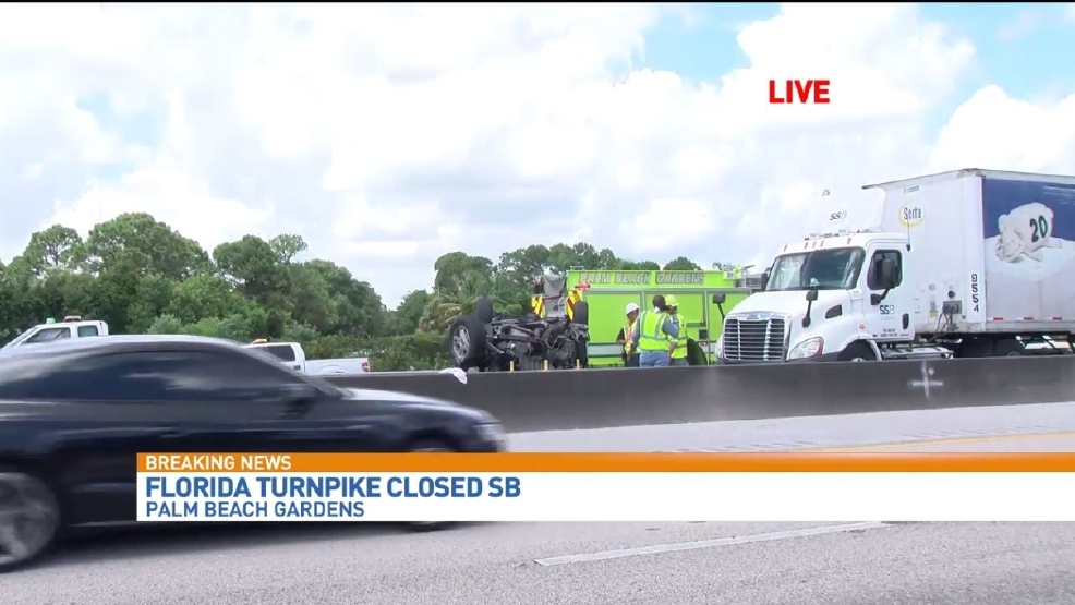 Crash Blocks Sb Lanes Of Florida Turnpike In Palm Beach