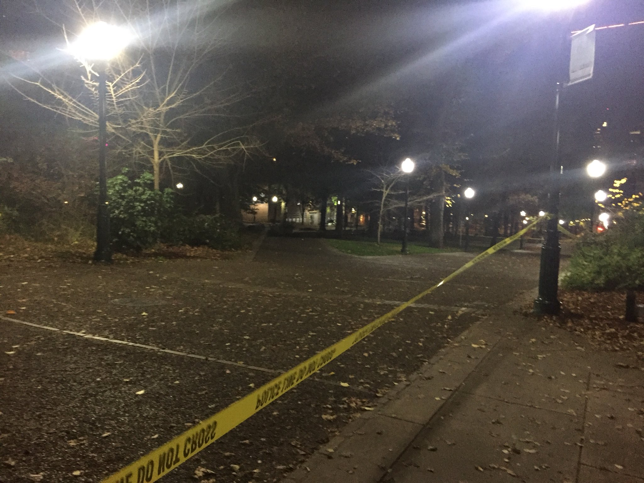 Police officers are conducting a death investigation on the Portland State University campus. They said they responded to a report of a shooting and found one person dead the morning of Nov. 7, 2017. (SBG photo)