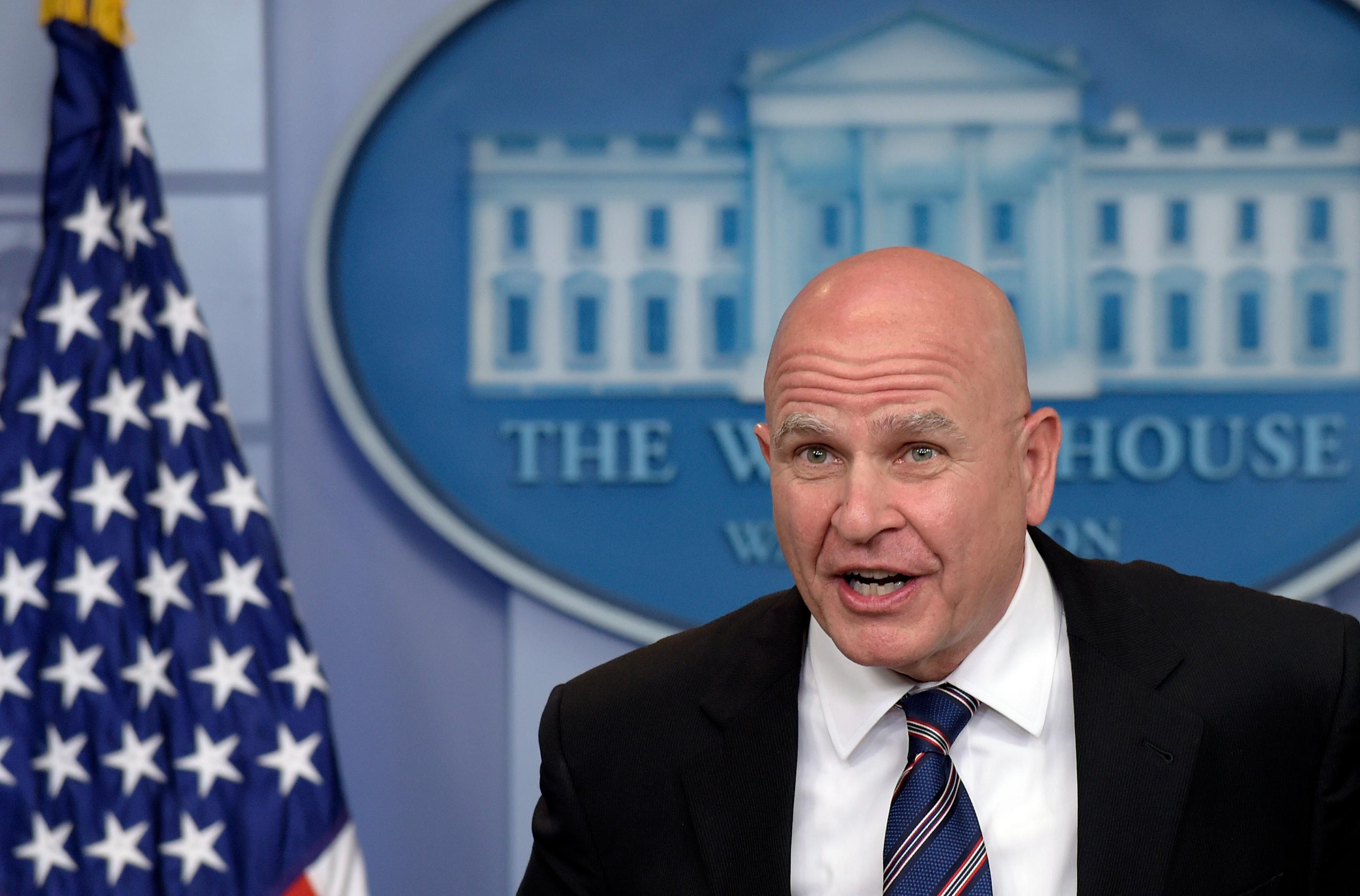 National Security Adviser H.R. McMaster speaks during a briefing at the White House in Washington, Tuesday, May 16, 2017. The White House has an unusual credibility problem: President Donald Trump's aides deliver questionable statements or aggressively argue points that Tump himself then contradicts. (AP Photo/Susan Walsh)