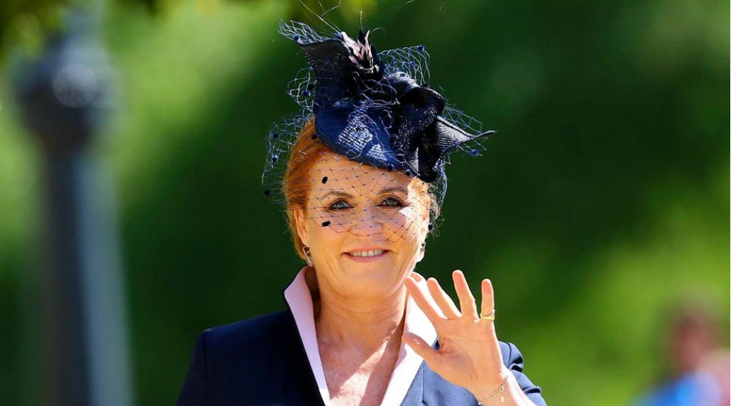 Sarah Ferguson arrives for the wedding ceremony of Prince Harry and Meghan Markle at St. George's Chapel in Windsor Castle in Windsor, near London, England, Saturday, May 19, 2018. (Gareth Fuller/pool photo via AP)<p></p>