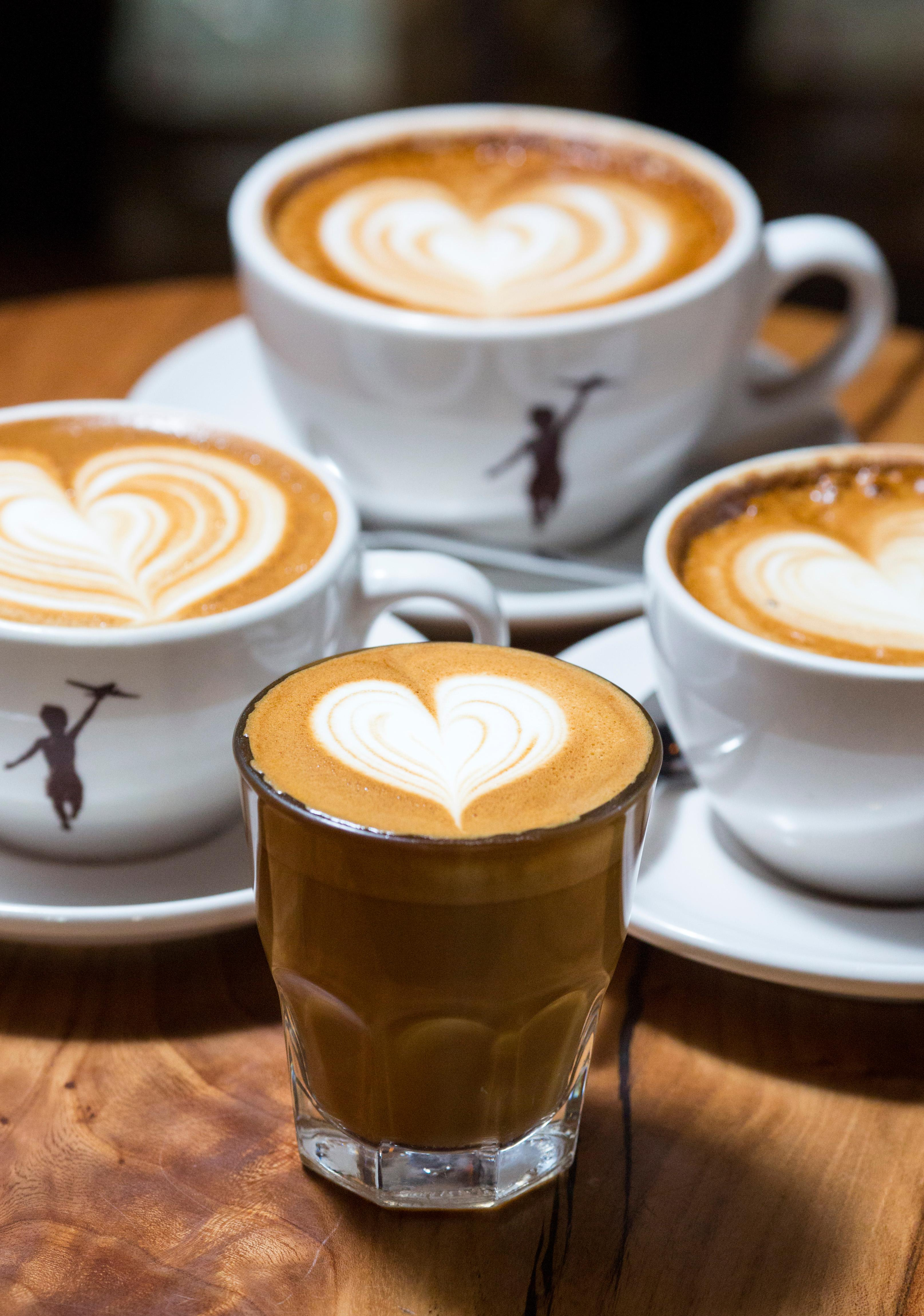 "Following the motto ""Love everybody, never ever hurt anybody,"" Storyville Coffee insists that they only draw hearts on their lattes. We decided to visit their Pike Place Market location at 94 Pike St. (Sy Bean / Seattle Refined)"