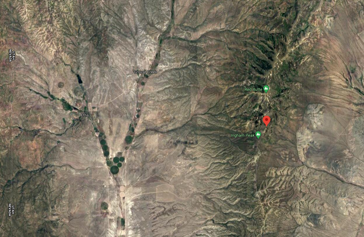 Ingham Pass in northwestern Utah (Photo: Google Maps)