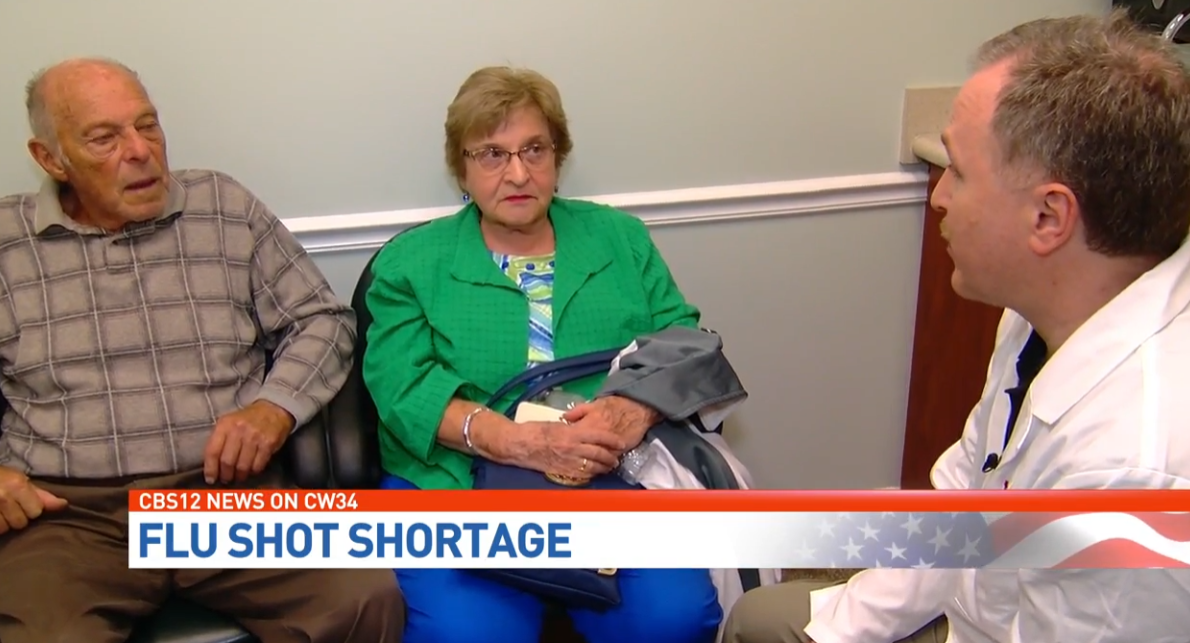 As flu vaccine is in high demand, doctor says supply could be getting low. (WPEC){ }