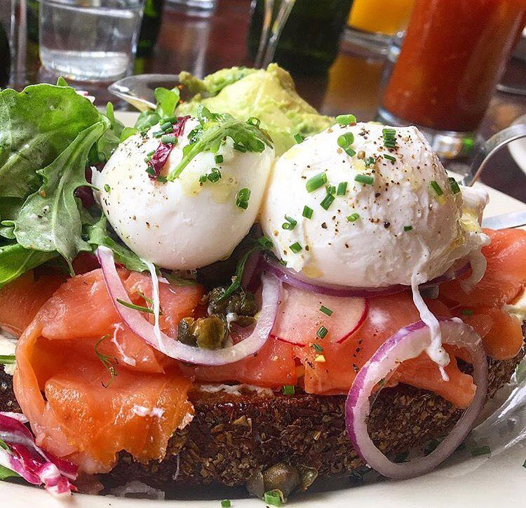 Smoked Salmon toast at The Smith (Photo credit Instagram/  @jewforkcity)