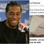Kawhi Leonard received a vote in French Presidential elections