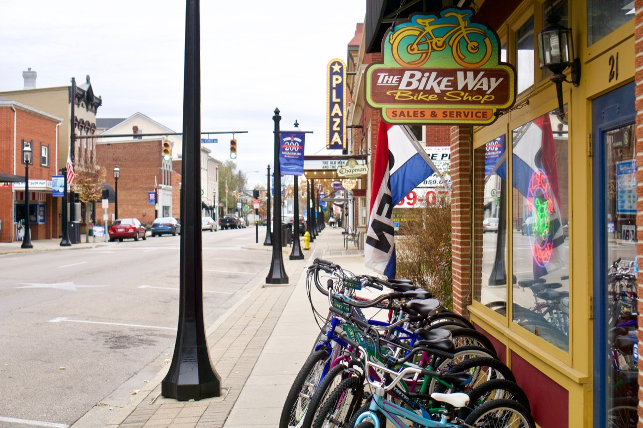 Miamisburg is among the most charming examples of small-town Ohio. Like many similar settlements located between Cincinnati and Dayton, its first major growth spurt occurred during the boom days of the Miami and Erie Canal in the middle of the 19th century. / Image: Brian Planalp // Published: 11.13.18