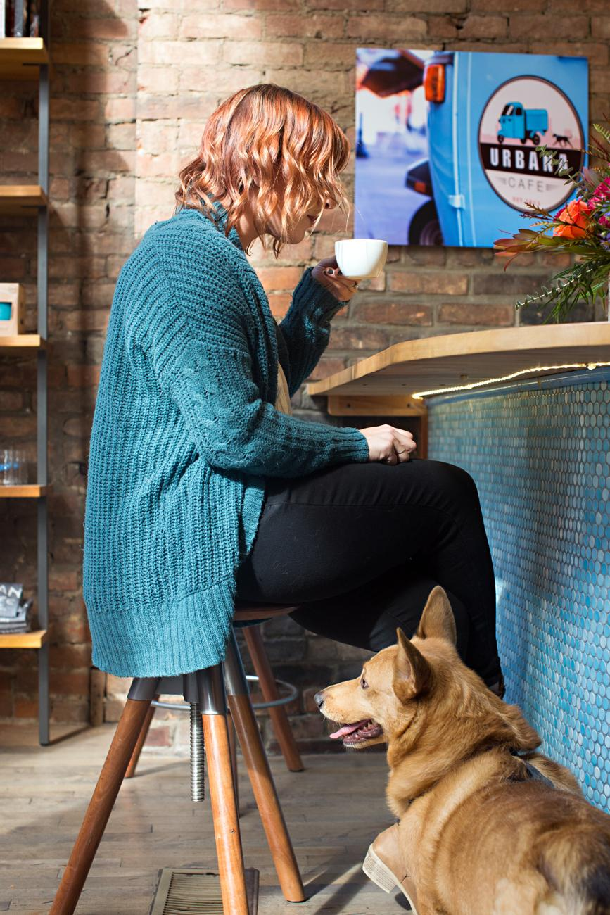 Buckley, a corgi, enjoying Urbana Café / Image: Sarah Parisi Dowlin // Published: 11.7.18