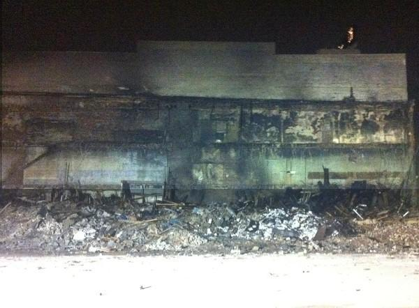The massive fire at a downtown Birmingham building was extinguished by firefighters and later demolished Friday night.