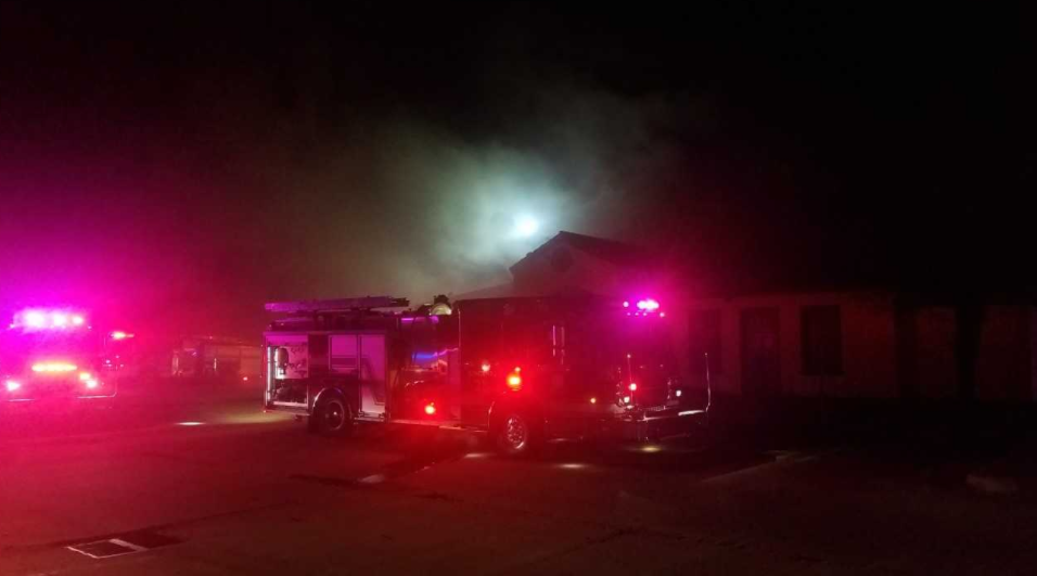 The old Macaroni Grill building near 71st and Memorial went up in flames early Tuesday morning. Police say they saw smoke coming from the building and decided to check it out, but the fire ended up getting out of control. (KTUL)