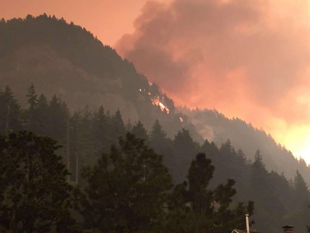 ODFW says three of its fish hatcheries near Cascade Locks are threatened by the Eagle Creek Fire. Photo courtesy ODFW
