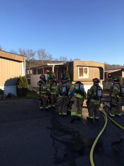Family displaced, 1 dog dead after mobile home fire in Auburn (Photo courtesy Valley Regional Fire)
