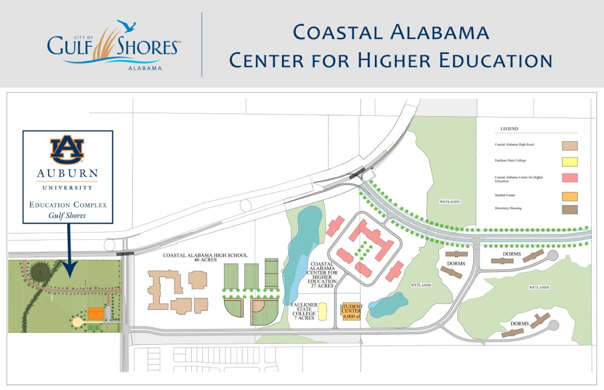 The complex is a 24,000-square-foot building which will be located at the corner of the Beach Express and County Road 8, adjacent to land acquired by the City of Gulf Shores. (Photo: City of Gulf Shores)