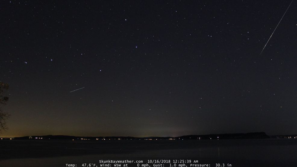 Rare October sunny streak allows for clear viewing of meteor shower Sunday